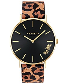 Women's Perry Animal Print Leather Strap Watch 36mm