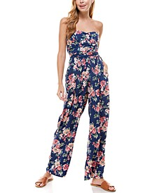 Juniors' Floral Jumpsuit