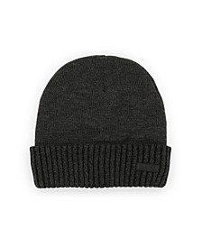 Men's Logo Ornament Detail Plaited Cuff Beanie