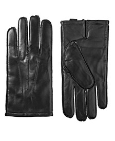 Men's Genuine Leather Touchscreen Gloves
