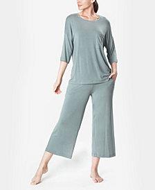 MOOD Pajamas Ultra Soft Comfy Women's Cropped Pajama Set