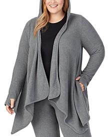 Plus Size Hooded Fleece Wrap