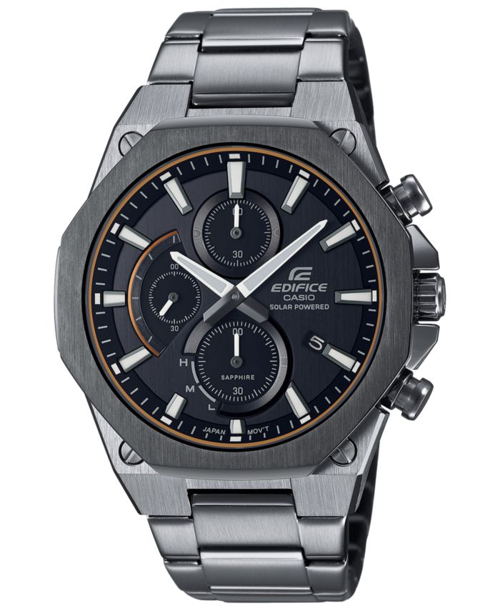 G-Shock G-Shock Men's Solar Slim Gunmetal Stainless Steel Bracelet Watch 49mm & Reviews - Macy's