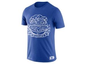 Nike Kentucky Wildcats Men's Dri-Fit Cotton Crest Basketball T-Shirt