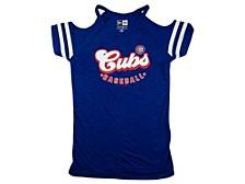 Chicago Cubs Girls Cold Shoulder Top