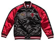 Men's Chicago Bulls Colorblock Lightweight Satin Jacket