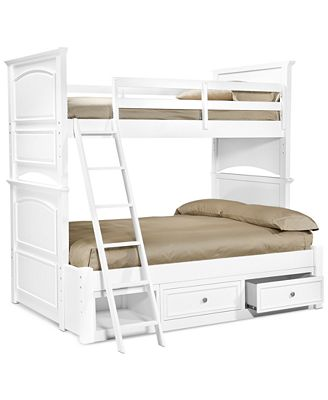Furniture Roseville Twin Over Full Kids Bunk Bed Furniture Macy S