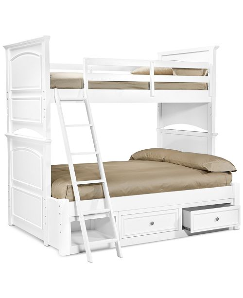 Furniture Roseville Twin Over Full Kids Bunk Bed