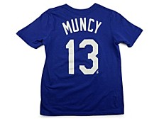 Los Angeles Dodgers Youth Name and Number Player T-Shirt Max Muncy