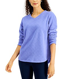 Petite Quilted Sweatshirt, Created for Macy's