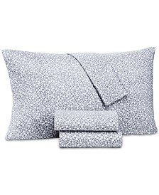 Supima Cotton 550-Thread Count 4-Pc. Floral-Print Extra-Deep California King Sheet Set, Created for Macy's