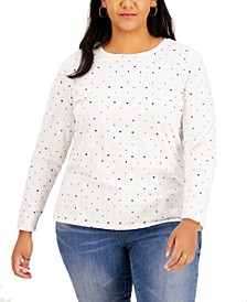 Plus Size Dotted Top, Created for Macy's