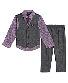 Baby Boys Holiday Twist Vest Set