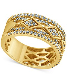 Diamond Intricate Openwork Ring (1/2 ct. t.w.) in 10k Gold