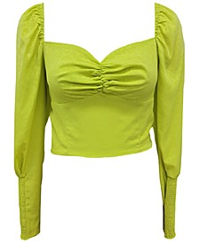Puffed Sweetheart-Neck Crop Top, Created for Macy's