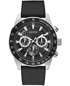 Men's Black Nylon Strap Watch 48mm