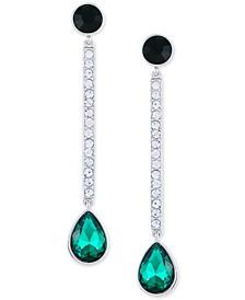 Crystal & Stone Linear Drop Earrings