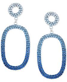 Crystal Ombre Oval Drop Earrings