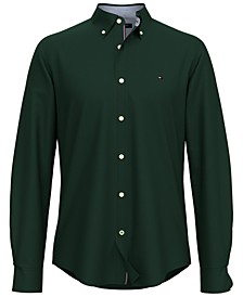Men's New England Custom-Fit Solid Oxford Shirt