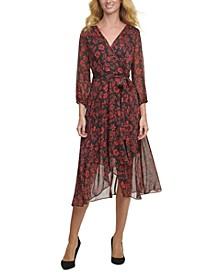 Almeria Floral-Print Midi Dress