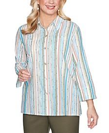 Petite Striped Button-Down Shirt
