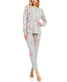Floral Nikrooz Collection Maddie Printed Hacci Pajama Set