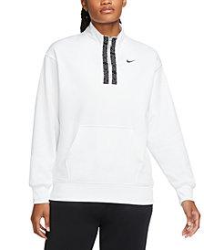 Nike Women's Therma Half-Zip Fleece Top