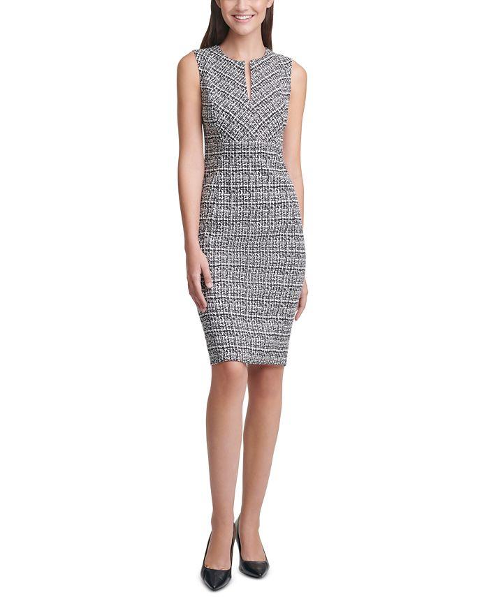 Calvin Klein - Plaid Sheath Dress