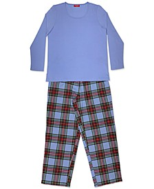 Matching Plus Size Mix It Tartan Family Pajama Set, Created for Macy's