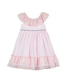 Baby Girls Chiffon Clip Dot Dress