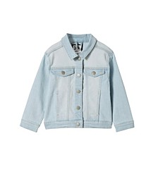 Big Girls Daisy Denim Jacket