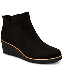 Jarodd Crepe Wedge Booties, Created for Macy's