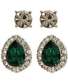 2-Pc. Set Crystal & Stone Earrings, Created for Macy's