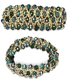 Gold-Tone Beaded Stretch Bracelet, Created for Macy's