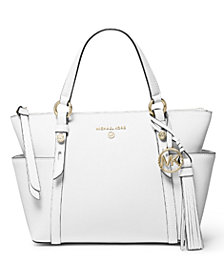 MICHAEL Michael Kors Nomad Small Convertible Top Zip Leather Tote