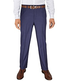 Men's Pattern Classic-Fit Ultraflex Stretch Machine Washable Dress Pants