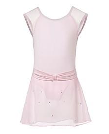 Little and Big Girls Paris Cap Sleeve Dance Dress