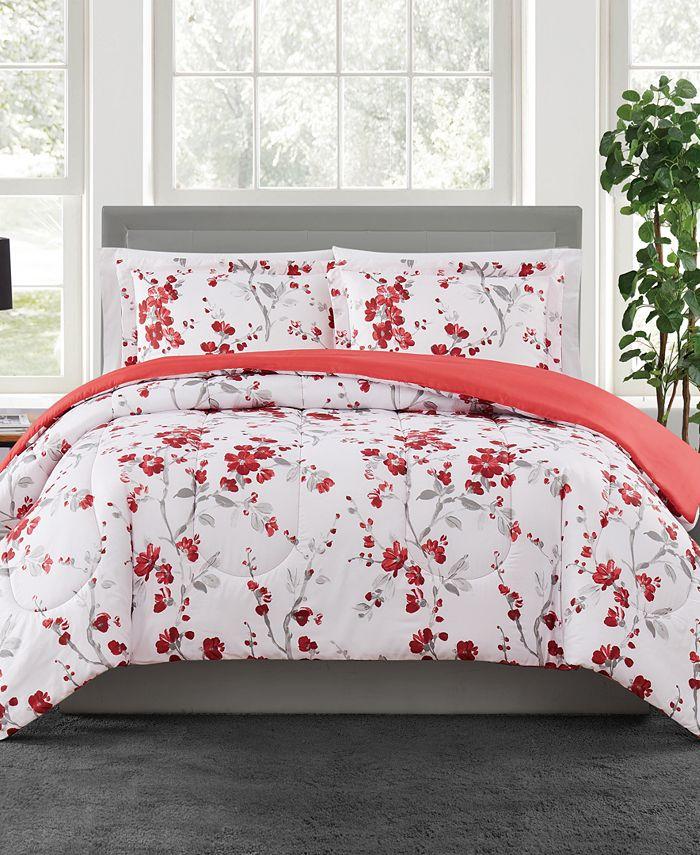 Pem America - Cherry Blossom 3-Pc Comforter Set