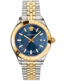 Men's Swiss Hellenyium Two-Tone Stainless Steel Bracelet Watch 42mm