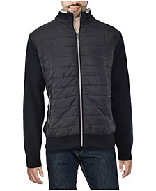 Men's Lightly Padded Hybrid Sweater Jacket