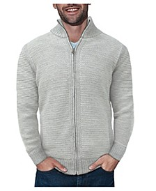 Men's Full-Zip High Neck Sweater Jacket