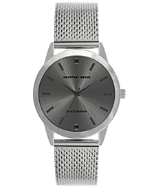 Men's Silver-tone Mesh Strap Watch, 40 mm