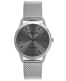 Men's Silver-tone Mesh Strap Watch, 40 mm