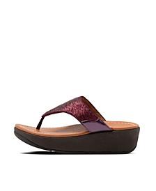 Women's Myla Glitz Toe-Thongs Wedge Sandal