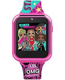 Kid's OMG Multicolored Silicone Touchscreen Smart Watch 46x41mm