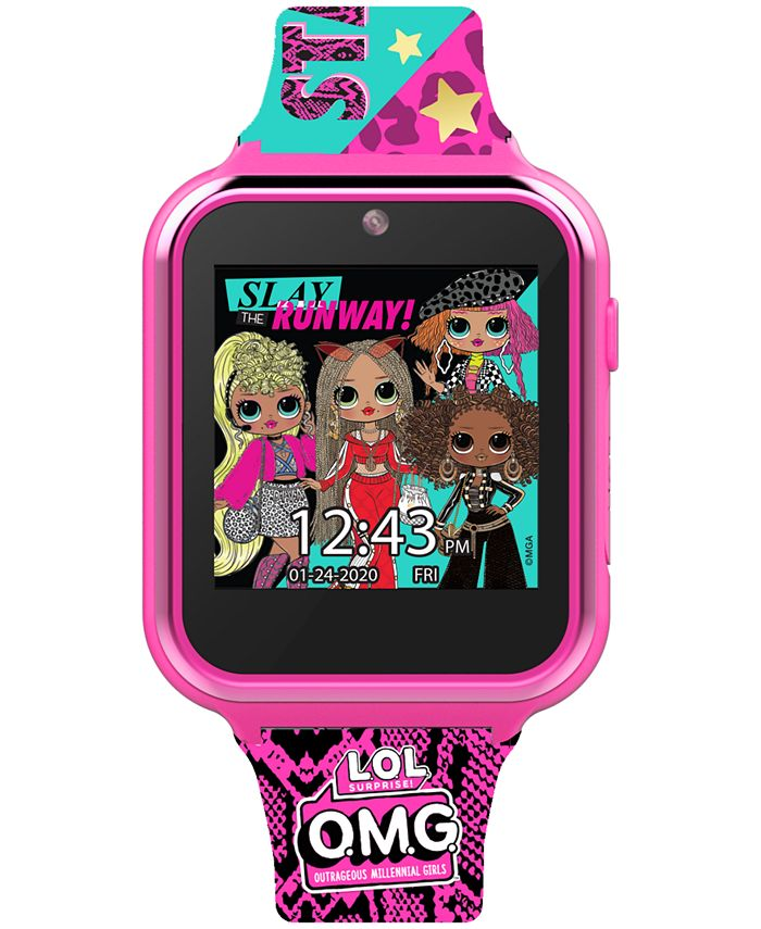 Accutime - Kid's OMG Multicolored Silicone Touchscreen Smart Watch 46x41mm