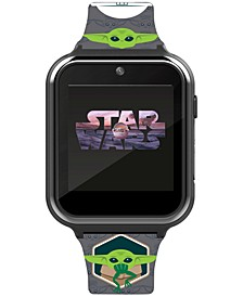 Kid's Star Wars Baby Yoda Gray Silicone Strap Smart Watch 46x41mm