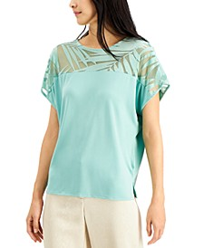 Printed Velvet Dolman Top, Created for Macy's
