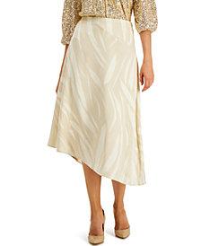 Alfani Printed Asymmetrical Skirt, Created for Macy's