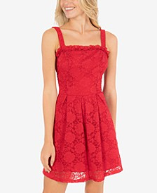 Juniors' Lace A-Line Dress